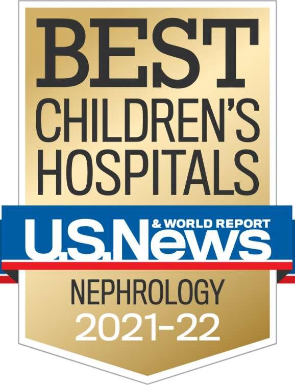 U.S News Best Children's Hospital Badge 2021-2022